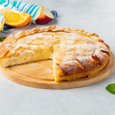 Бугаца | Пирог с заварным кремом