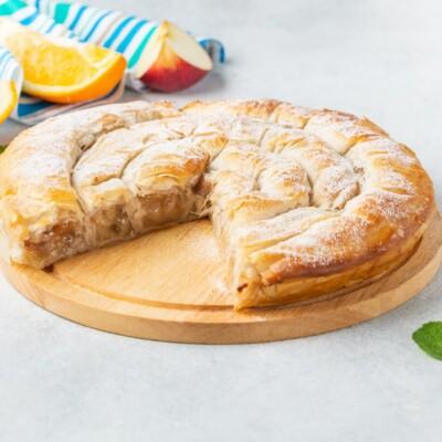 Милопита | Пирог с яблоком