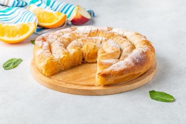 Подарочная портокалопита | Пирог с апельсином