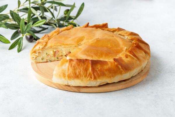 Пита Замбон-Патата | Пирог с ветчиной и картошкой